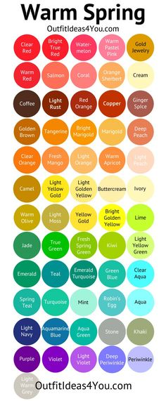 Shaded Spring Color Palette (Warm Spring)                                                                                                                                                     More