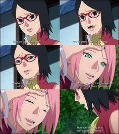 Sakura telling Sarada about her connected feelings with Sasuke ❤️❤️❤️