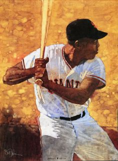 SF Giants HOFer Willie Mays by Bart Forbes