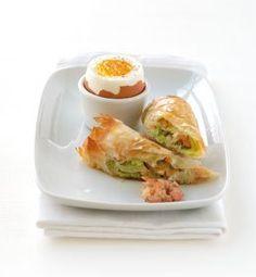 Zachtgekookt eitje met krokantje van grijze garnalen en prei - Culinaire Ambiance - Philippe Van den Bulck !