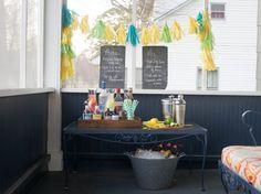 Design a Faux Bar Cart Perfect for Spring Parties (http://blog.hgtv.com/design/2014/03/27/blogger-challenge-casual-faux-bar-cart/?soc=Pinterest)