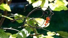 Copper Crafts, Wire Crafts, Diy Home Crafts, Bead Crafts, Wire Tutorials, Jewelry Making Tutorials, Wire Wrapped Pendant, Wire Wrapped Jewelry, Red Robin Bird
