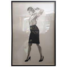 """Cindy"" Lithograph by Robert Longo"