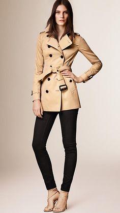 Miel Trench coat Sandringham - Trench coat Heritage corto Burberry - Imagen 1