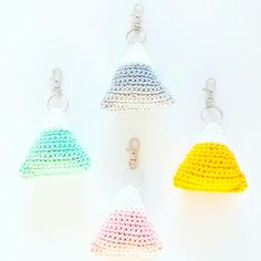 Triangle keychains, pastel