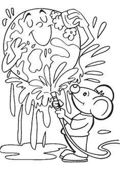 Printable Earth Day Coloring Pages Collection. Print a beautiful coloring page of Earth Day. On April 22 it is Earth Day. Earth Day Coloring Pages, Coloring Pages For Girls, Flower Coloring Pages, Coloring Pages To Print, Free Printable Coloring Pages, Free Coloring Pages, Coloring For Kids, Earth Day Pictures, Kindergarten Coloring Pages