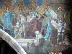 Gebhard Fugel (1863–1939)  Wangen Pfarrkirche St Martinus Chorbogen rechts.jpg 1899