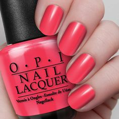 OPI on Collins Ave.  NL B76 / Classics A sizzling red-orange that knows where the action is.  Read more at http://opi.com/color/nail-lacquer/opi-collins-ave#lcFo7wAjWF56lX45.99