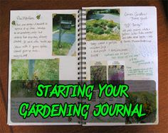 Starting your gardening journal...why haven't I done this already?