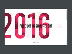 2016 product design report