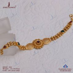 A beautiful bracelet perfect for you. Get in touch with us on Gold Chain Design, Gold Bangles Design, Gold Jewellery Design, Gold Jewelry Simple, Trendy Jewelry, Women Jewelry, Hand Jewelry, India Jewelry, Ethnic Jewelry