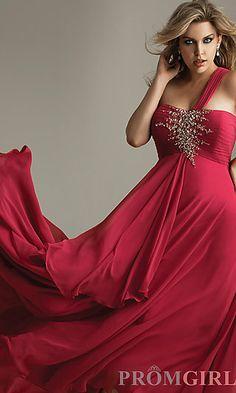 Elegant One Shoulder Prom Dress  at PromGirl.com