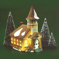 """Department 56: Products - """"Sleepy Hollow Church"""" (OWNED - inherited from Nana & Papa)"""