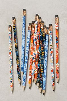 Silvia - anthropologie has a ton of these pretty pencils - happy to try to order some to bring to our tasting.