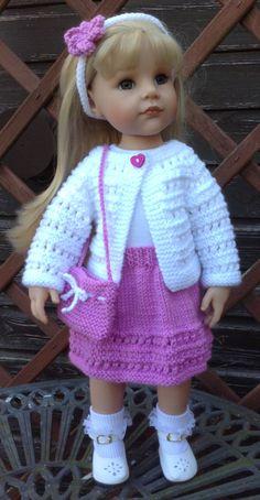 46 American Girl Puppe. Sommer-Cardigan Set PDF von jacknitss