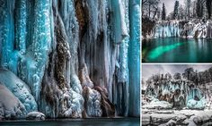 When winter in Croatia's Plitvice Lakes National Park drags the temperatures low enough, the rugged landscape transforms into scenes worthy of a fairytale.