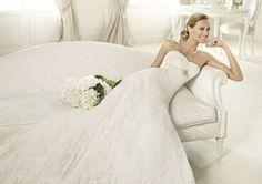 Pronovias te presenta el vestido de novia Berta. Costura 2013. | Pronovias