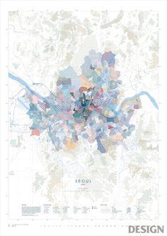 월간 디자인 : 아메바 캘린더 '지도미학' | 매거진 | DESIGN