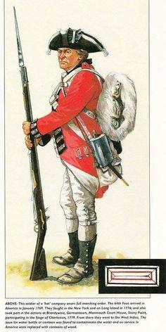 British; 64th Regiment of Foot, c.1777