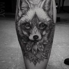 Fox and mandala elements