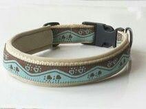 Individuelles Hundehalsband nach Maß.Gurtbandfarbe und Farbe der Polsterung individualisierbar. Preis. 16,95 € Shop-Link: http://de.dawanda.com/product/45775598-Hundehalsband