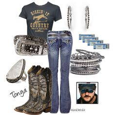 Boots and jeans, created by dixi3chik on Polyvore