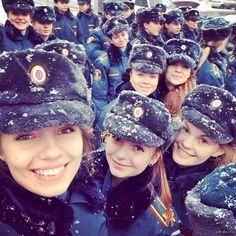 Russian army girls