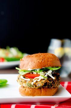 Black Bean, Quinoa & Cheddar Burgers - Cooking Quinoa