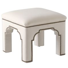 Bunny Williams Home Taj Stool. Found at Layla Grayce. upholstered in velvet #laylagrayce #bunnywilliamshome