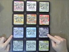 New Tim Holtz Distress Ink Comparison. THIS is what I have wanted to know!