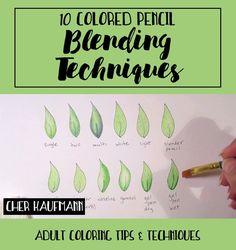 10 Colored Pencil Blending Techniques