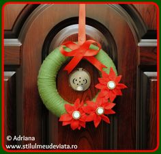 coronita de Craciun Wreaths, Fall, Christmas, Diy, Home Decor, Corona, Autumn, Xmas, Decoration Home