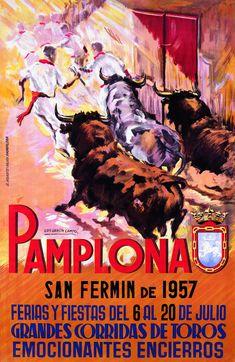 San Fermín 1957 Luis García Campos