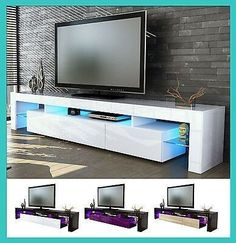 Details on Modern glossy lacquered living room TV stand Modern Tv Room, Modern Tv Wall Units, Tv Stand Furniture, Tv Unit Furniture, Tv Unit Decor, Tv Wall Decor, Casa Disney, Tv Stand Decor, Rack Tv