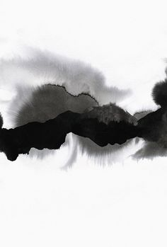 Art Print by Georgiana Paraschiv - X-Small Black And White Painting, Black And White Abstract, White Art, Watercolor Paintings Abstract, Watercolor Landscape, Watercolor And Ink, Zen Painting, Elements Of Art, Gravure