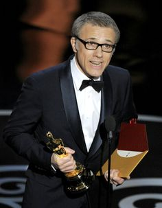 Christoph Waltz's role as Dr King Schultz won him the first award of the night - 'Best Supporting Actor' for Django Unchained.