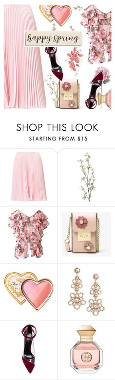 """""""Springtime"""" by slavicabojanovic ❤ liked on Polyvore featuring Pier 1 Imports, MICHAEL Michael Kors, Too Faced Cosmetics, Kate Spade, Raye, Tory Burch, Chanel and Spring"""