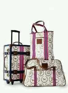 VS Pink luggage set