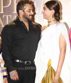 Sonam Kapoor and Salman Khan at a 'Prem Ratan Dhan Payo' promo event. #Bollywood #PRDP #Fashion #Style #Beauty #Handsome #Desi #Hot