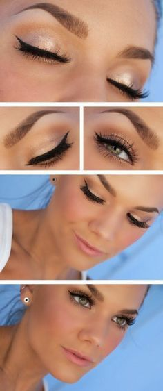 tuto maquillage yeux verts, comment maquiller les yeux