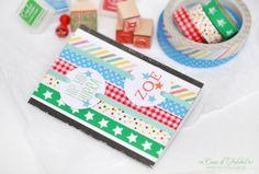 Geburtstagskarte I Geschenkverpackung I Kindergeburtstag I gift wrap I packaging I masking tapes I stempel I ministempel I stamp I Casa di Falcone