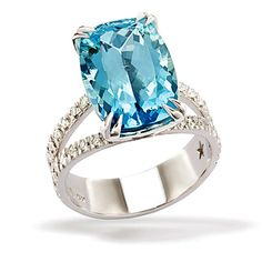 H. Stern Paraiba Tourmaline and Diamond Ring Such is the case with Paraiba Tourmaline. The color of the neon gem, discovered in the '80s, is compared to ocean blues and greens but to me it looks like Windex. It is 10,000 times more rare than a diamond and must be mined by hand because it is so delicate.