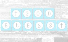 Baby Boy Baptism Banner | Free Printable | A Slice of Ky