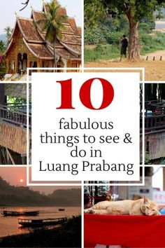 Things to see and do in Luang Prabang, Laos