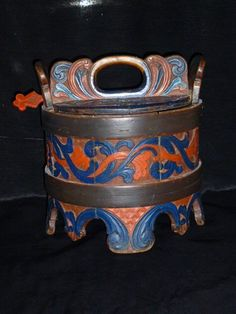 Norwegian Porridge Container | Folk Art | Ryder Antiques