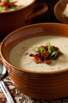 Chicken corn chowder with bacon