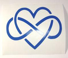 Eternity Heart, Eternity Symbol, Interlocking Eternity Heart, 50 Shades, Bondage Heart, Eternal Love Symbol by TipperaryLane on Etsy