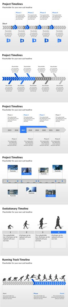 Timeline template for Powerpoint Great project management tools - project timelines