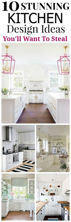 10 Stunning Kitchen Design Ideas  You'll Want to Steal. How stunning and beautiful are these Kitchen Decor Ideas you''ll sure to try.