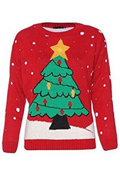 GirlsWalk Womens Light Up Christmas Tree Jumper >>> Details can be found by clicking on the image.